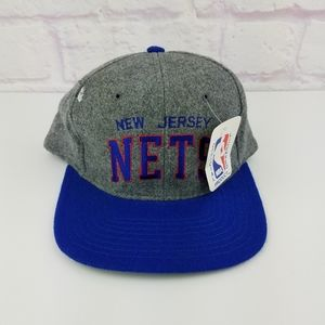 RARE Vintage 90's NBA New Jersey Nets Arch Hat